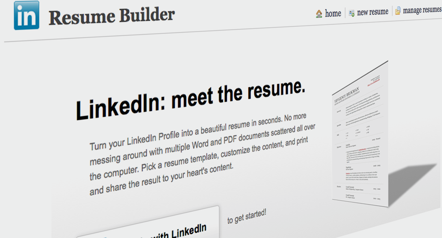 LinkedIn Labs  Resume Builder From Linkedin